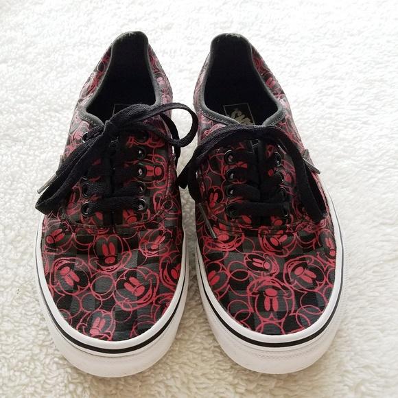 black and red disney vans